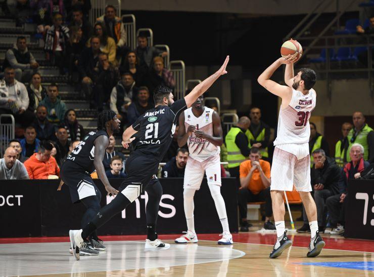 Okben Ulubay'dan Partizan deplasmanında iyi performans